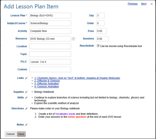Hstonline User Guide Lesson Plans An Explanation